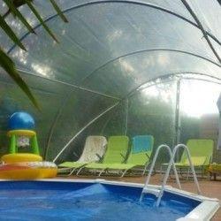 Abri de piscine largeur 4m50