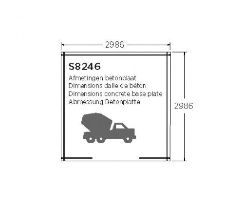 Abri de jardin MILANO 8,58m²