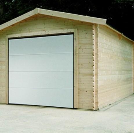 garage en bois 16 20 m avec porte motoris e solid. Black Bedroom Furniture Sets. Home Design Ideas