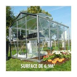 Serre de jardin en verre trempé Royal 33 - 6,9 m²