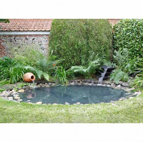 Kit bassin de jardin aqualiner en b che 5 x 4 m for Kit bassin jardin