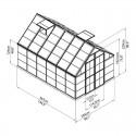 Plan Serre Octave polycarbonate 8,8 m²