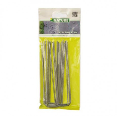 Lot de 10 agrafes H 14 x 3 cm / Ø 3 mm
