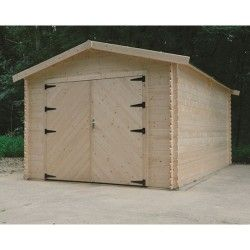 Garage traditionnel 16,20 m² avec double porte