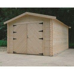 Garage traditionnel 16,20 m² avec double porte