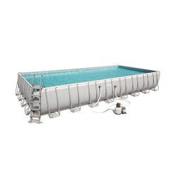 Kit Piscine Rectangulaire Power Steel Frame Pools L 956 x l 488 x H 132 cm - filtre à sable