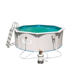 Kit piscine ronde Steel Wall Pool ø360 cm - filtre à sable