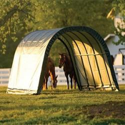 Les abrisShelterLogicvous permettent d'abriter votre véhicule, votre matériel de jardin, ou encore vos animaux:chevaux, moutons, vaches. Ces abris sont très résistants, de haute qualité et traités anti-UV.